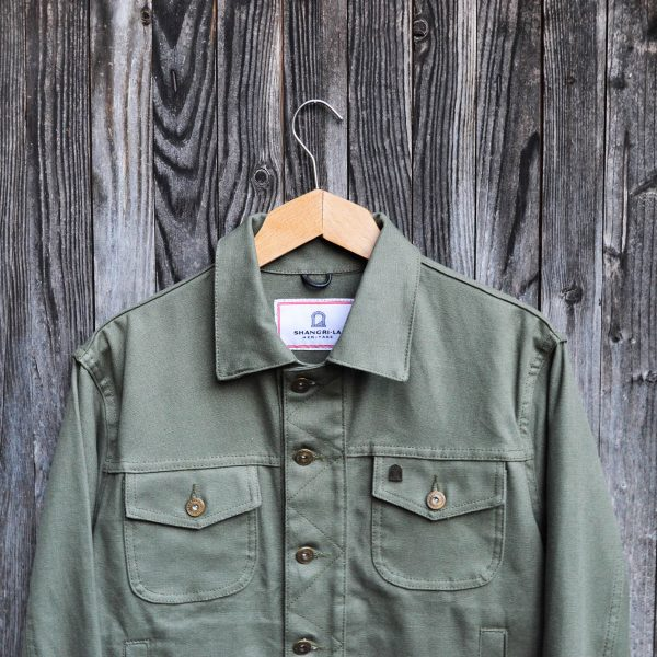 shangri-la-heritage-single-rider-olive-canvas-jacket-still-life-front-top