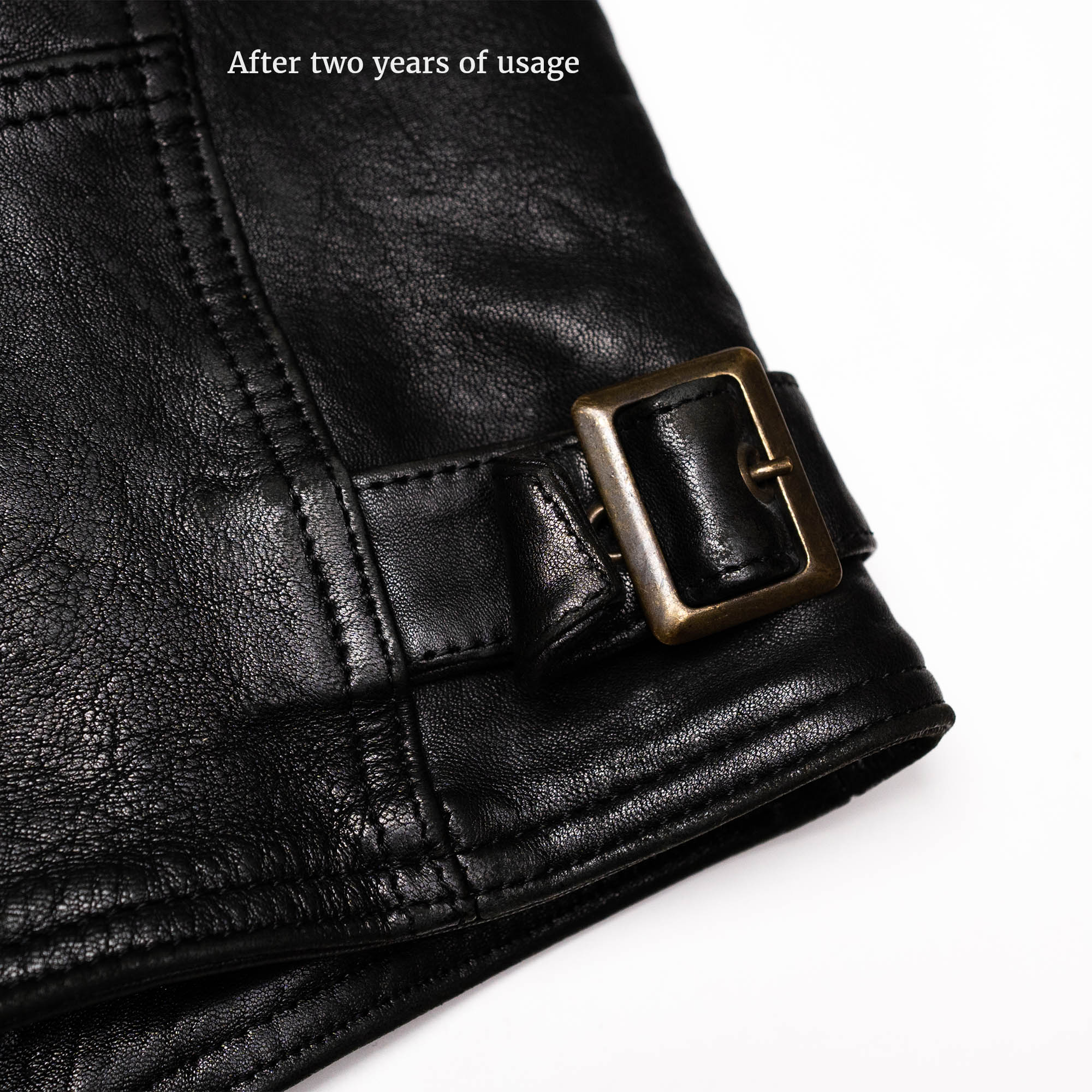 shangri-la-heritage-cafe-racer-black-lambskin-jacket-still-life-adjustable-tab-used