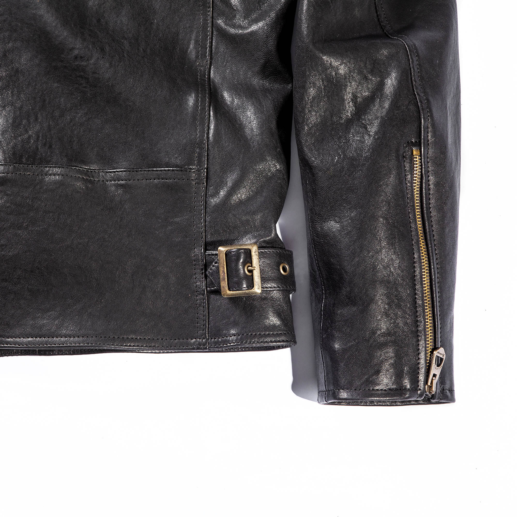 shangri-la-heritage-cafe-racer-black-lambskin-jacket-still-life-back-bottom