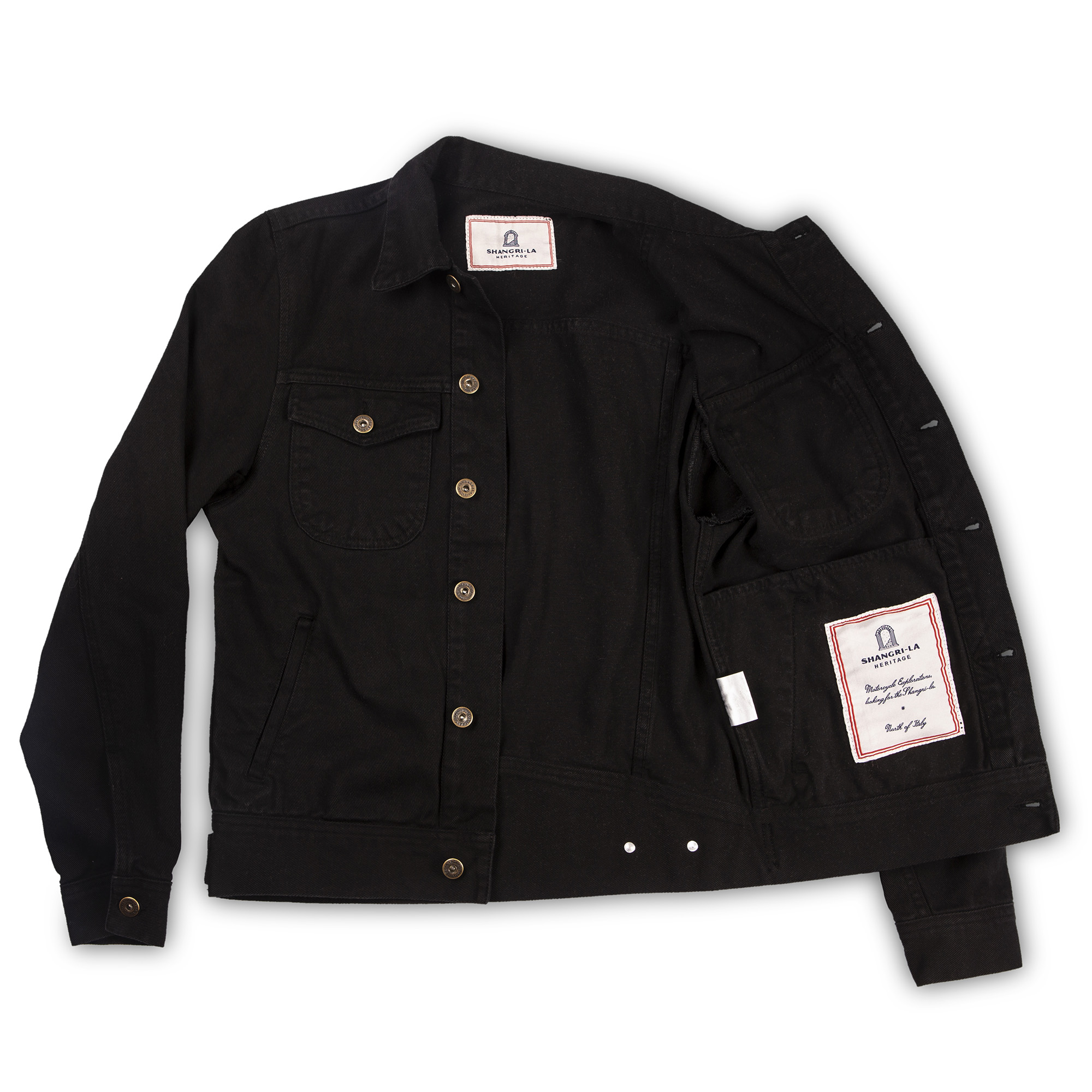 shangri-la-heritage-new-single-rider-black-canvas-jacket-still-life-open