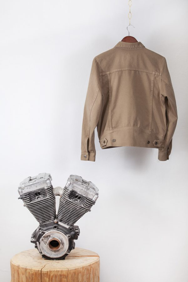 shangri-la-heritage-single-rider-army-green-canvas-jacket-still-life-back-engine