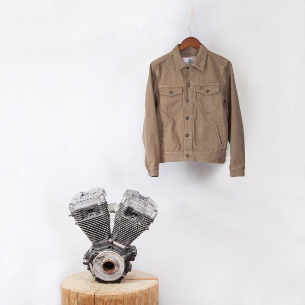 shangri-la-heritage-single-rider-army-green-canvas-jacket-still-life-front-engine-square