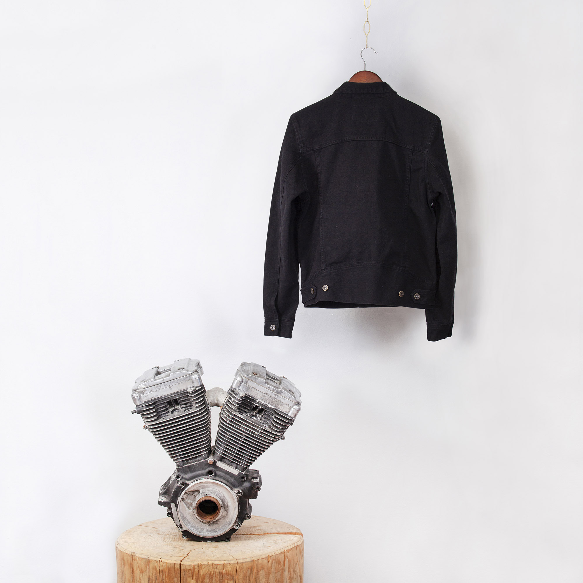 shangri-la-heritage-single-rider-black-canvas-jacket-still-life-back-engine-square
