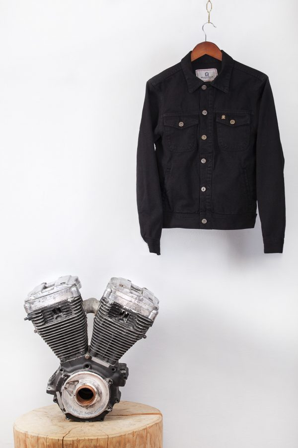 shangri-la-heritage-single-rider-black-canvas-jacket-still-life-front-engine