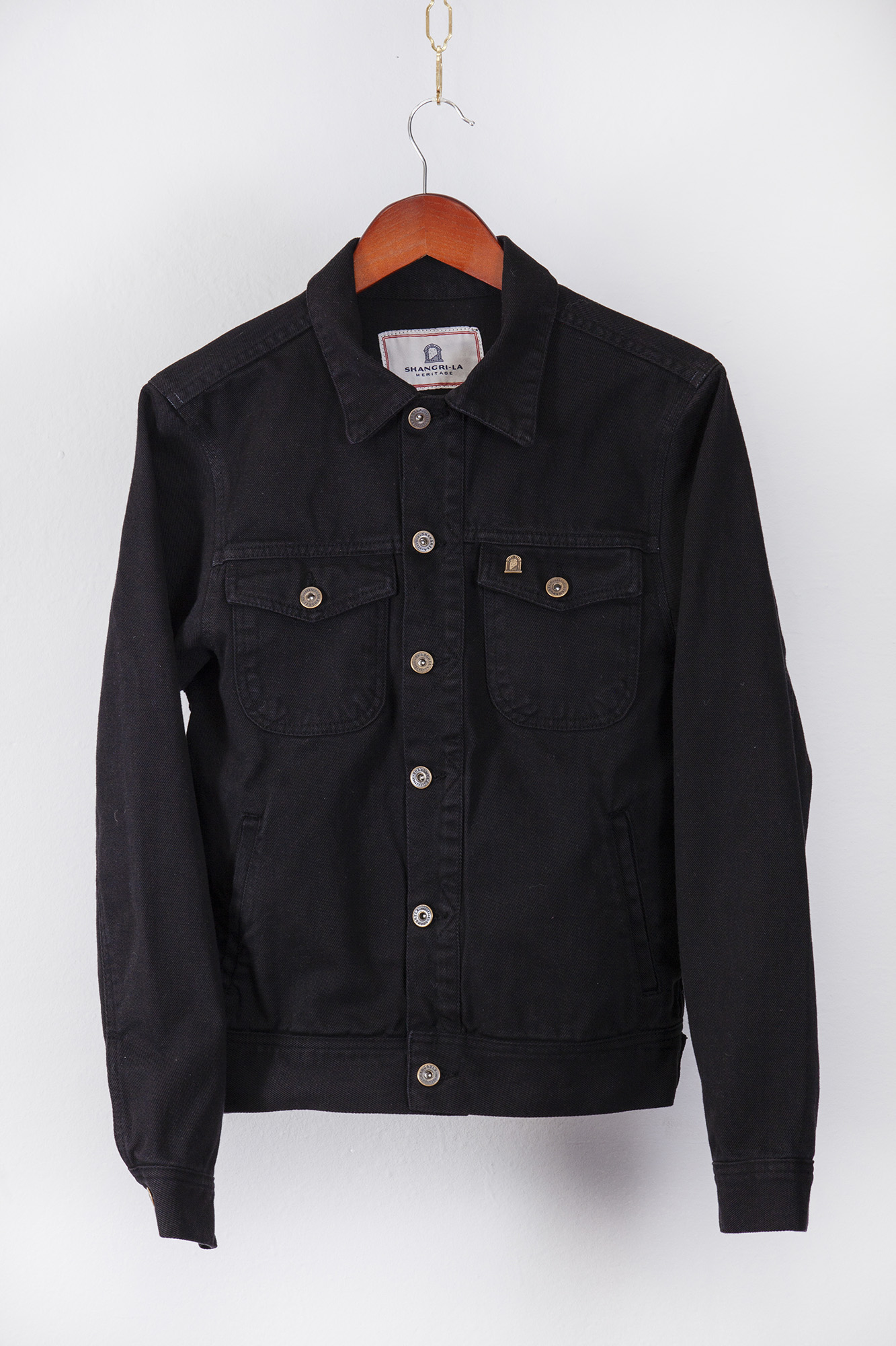 shangri-la-heritage-single-rider-black-canvas-jacket-still-life-front