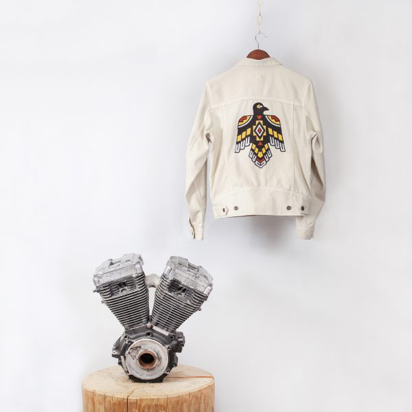 shangri-la-heritage-single-rider-ivory-canvas-jacket-sparviero-thunderbird-still-life-back-engine-square