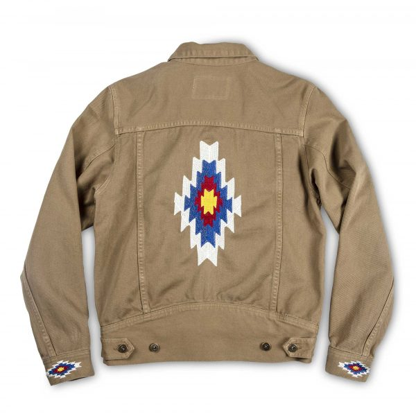 shangri-la-heritage-new-single-rider-sparviero-navajo-army-green-canvas-jacket-still-life-back