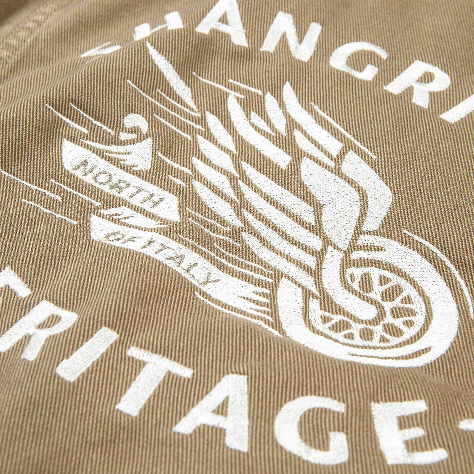 shangri-la-heritage-new-single-rider-winged-wheel-army-green-canvas-jacket-still-life-ebroidery-detail