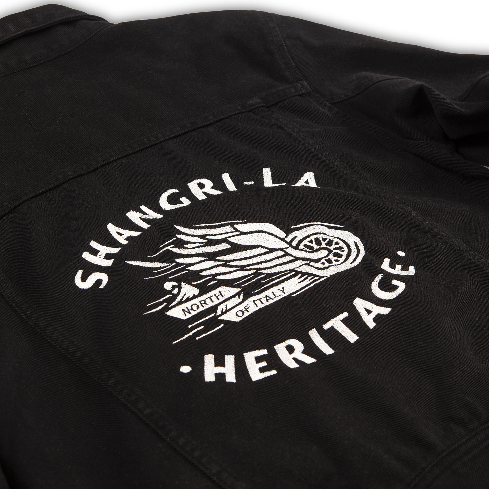 shangri-la-heritage-new-single-rider-winged-wheel-black-canvas-jacket-still-life-embroidery