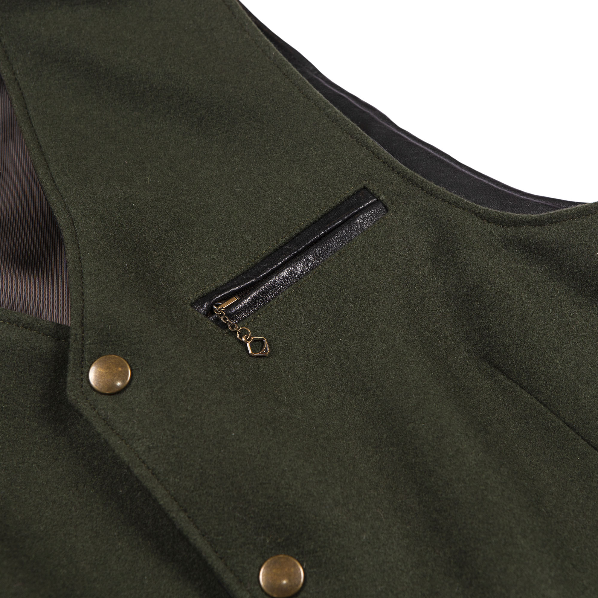 shangri-la-heritage-mandriano-forest-green-wool-vest-still-life-front-chest-pocket