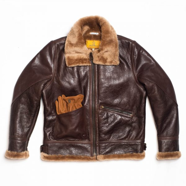 shangri-la-heritage-aviatore-b-3-seal-brown-shearling-sheepskin-jacket-still-life-front-gloves