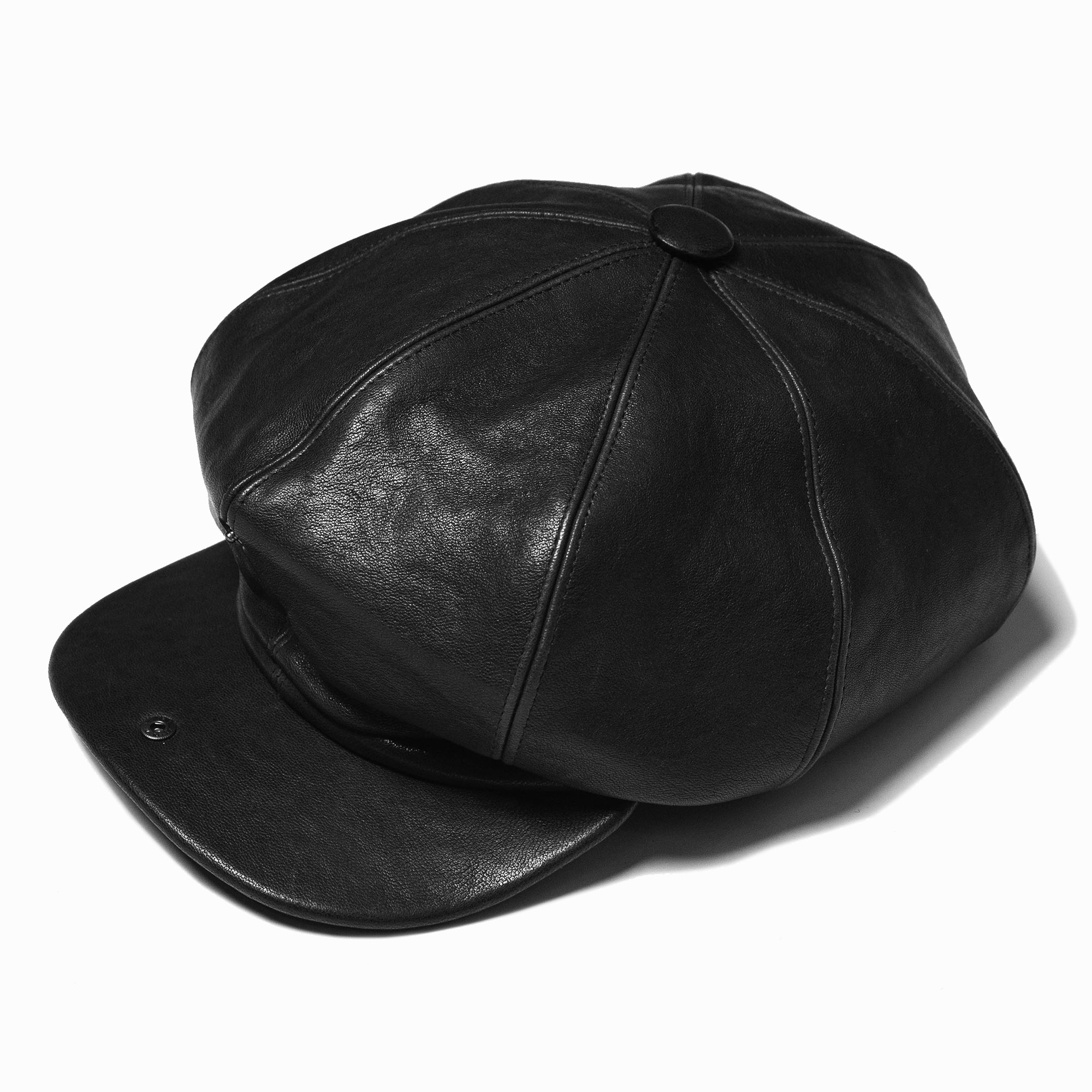 shangri-la-heritage-outlaw-black-lambskin-8-panel-riders-cap-still-life-open