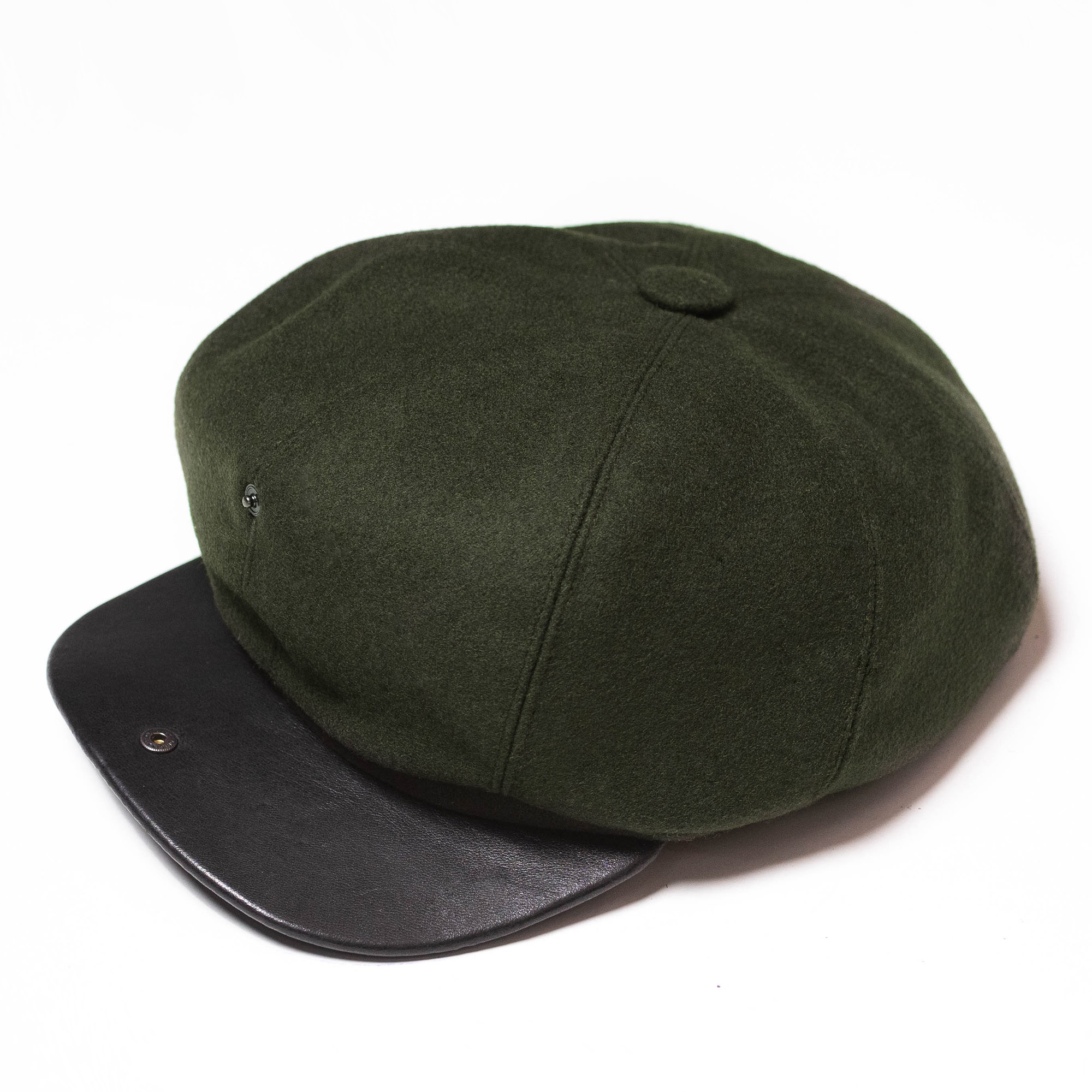 shangri-la-heritage-outlaw-forest-green-wool-8-panel-riders-cap-still-life-open