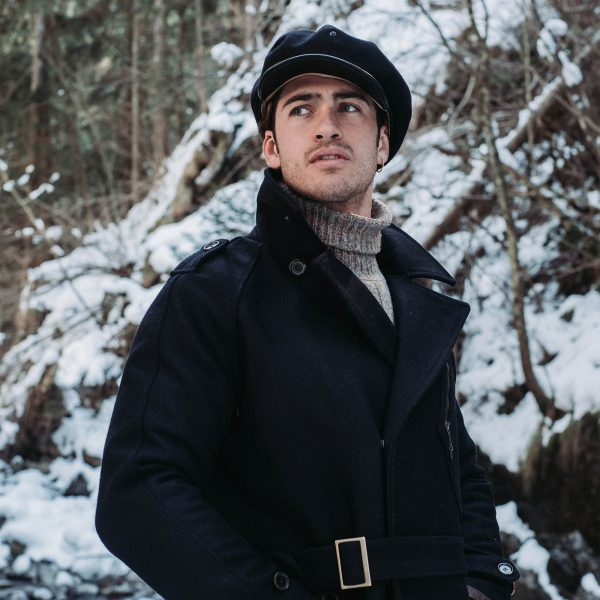 shangri-la-heritage-stelvio-navy-blue-melton-wool-dispatch-rider-coat-outlaw-8-panel-riders-cap-lifestyle-3