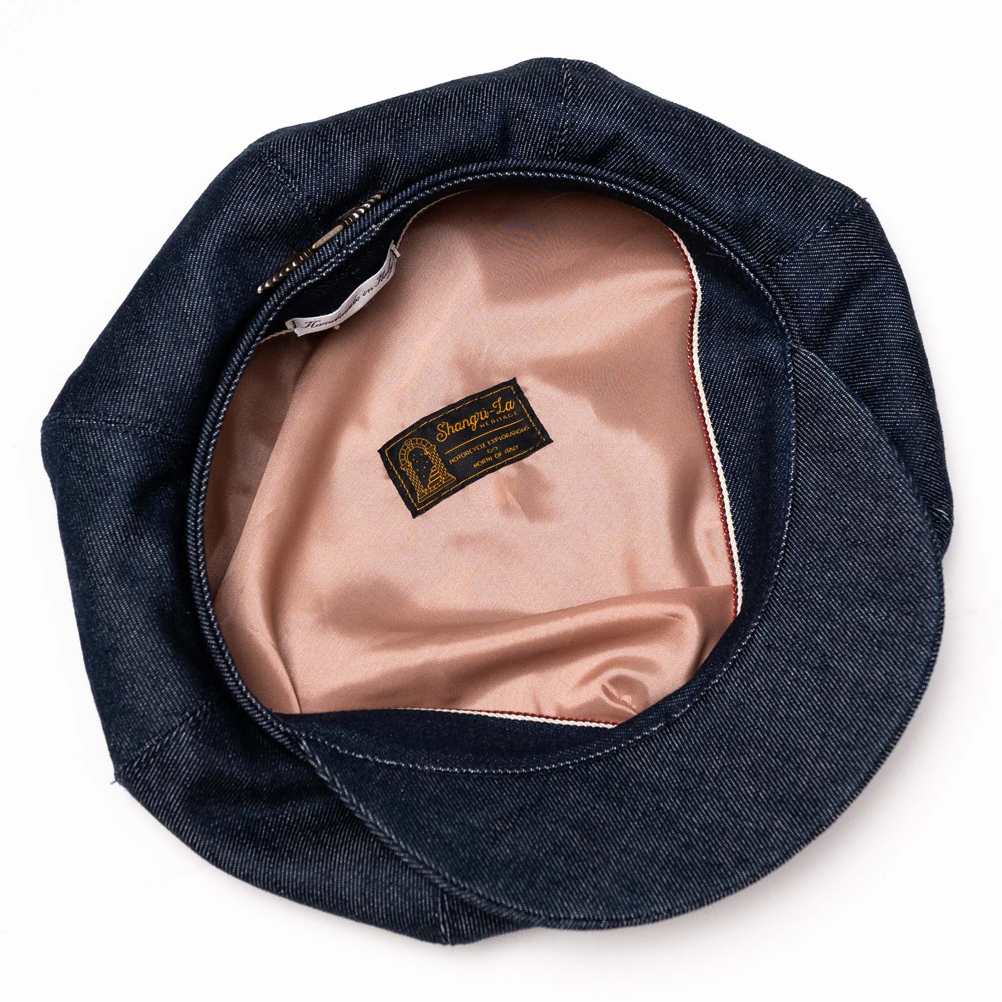 shangri-la-heritage-outlaw-womens-selvedge-candiani-denim-8-panel-riders-cap-still-life-inside